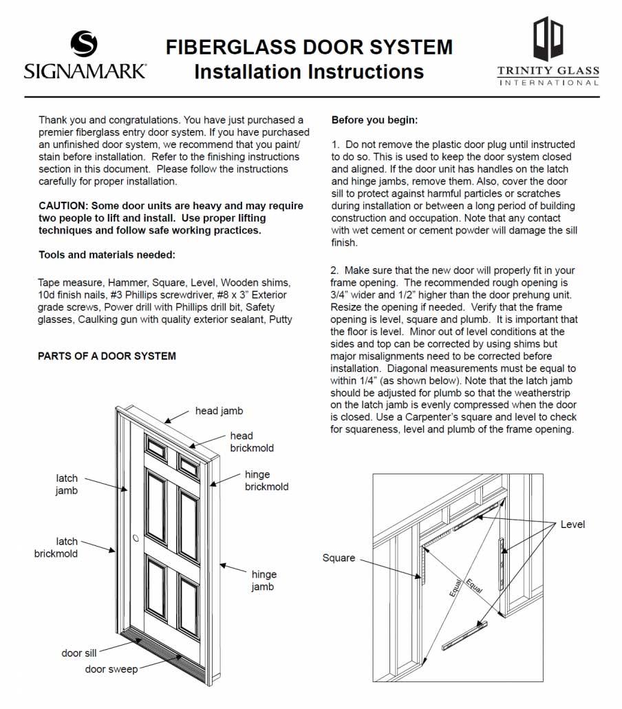 Products fiberglass exterior doors wood interior doors - Interior door installation instructions ...